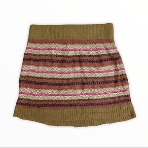 Mossimo Knit Tan and Pink Winter Skirt